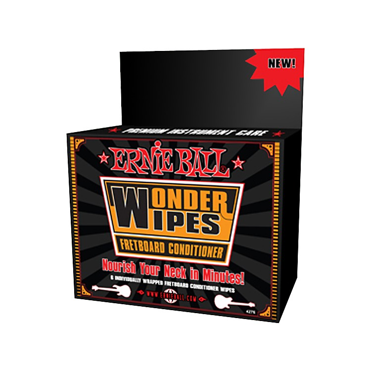 Ernie BallWonder Wipe Fretboard Conditioner 6-pack