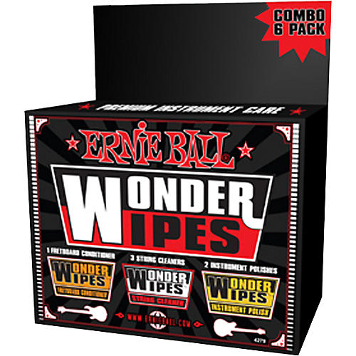 Ernie Ball Wonder Wipe Variety 6-pack