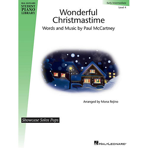 Hal Leonard Wonderful Christmastime - Level 4 Piano Library Series by Paul McCartney (Level Early Inter)