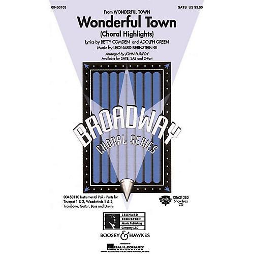 Hal Leonard Wonderful Town (Choral Highlights) SAB Arranged by John Purifoy