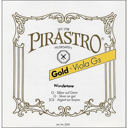 Pirastro Wondertone Gold Label Series Viola String Set 16.5 in. Full Size