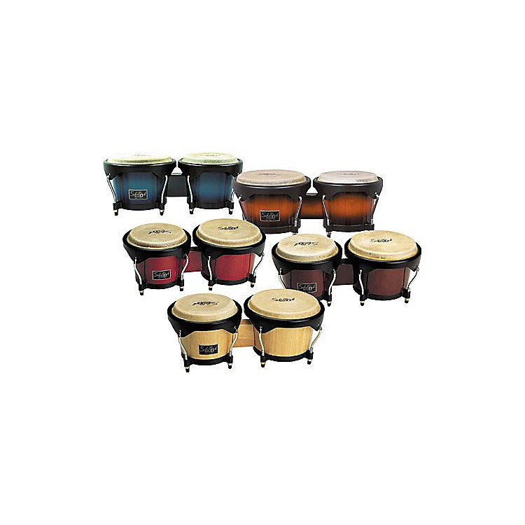 Schalloch Wood Bongo Set Blue Fade