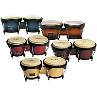 Wood Bongo Set Vintage Sunburst