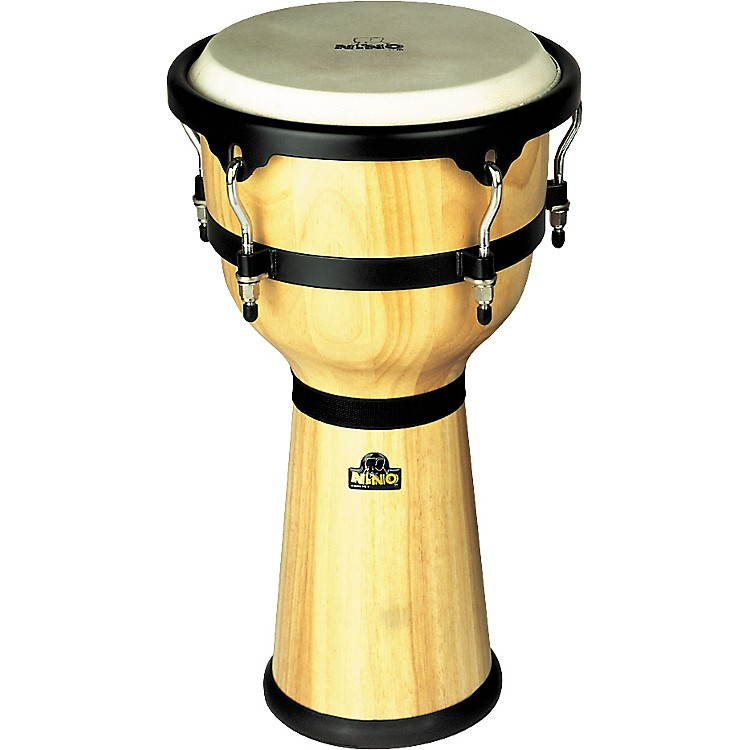 Nino Wood Djembe Drum Natural 10 Inches