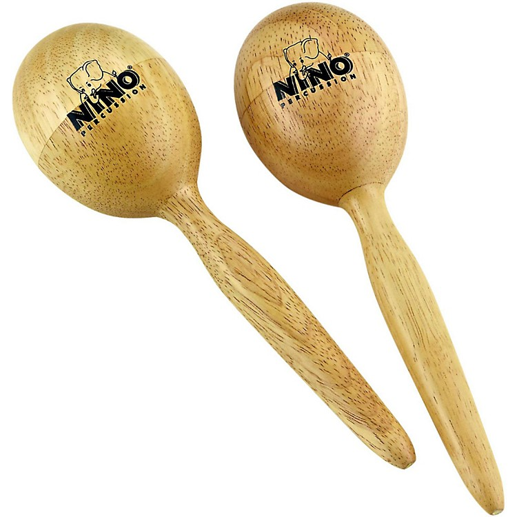 Nino Wood Egg Maracas/Pair  Medium