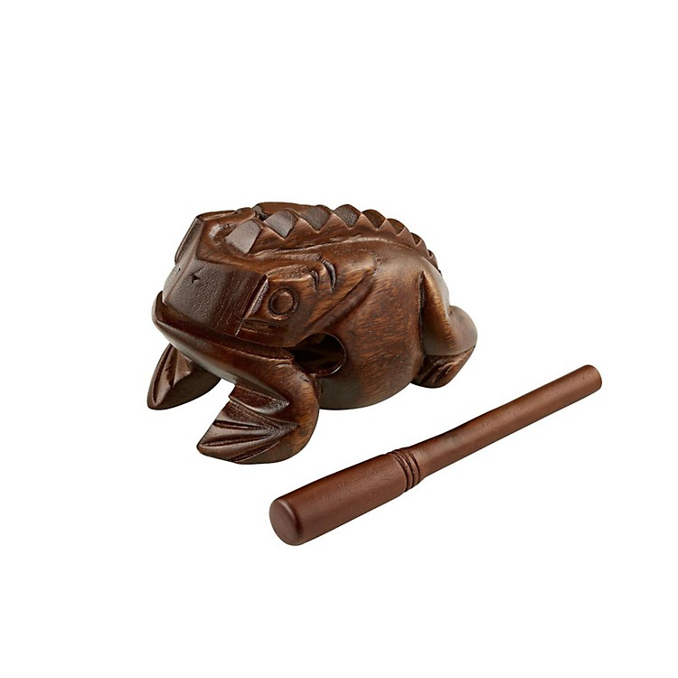 Meinl Wood Frog Hand Percussion Instrument Brown Large