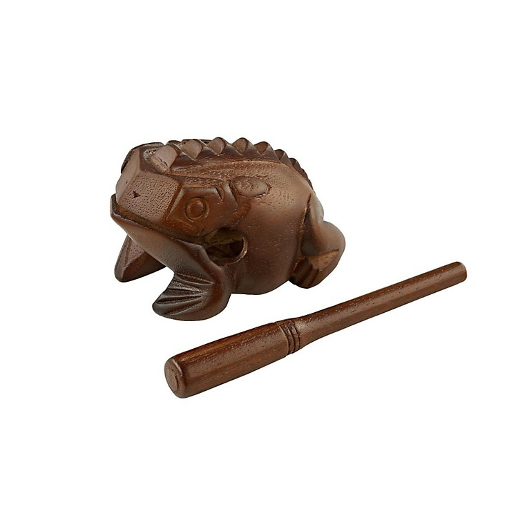 Meinl Wood Frog Hand Percussion Instrument Brown Medium
