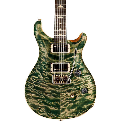 PRS Wood Library Custom 24 Quilted Maple 10 Top Electric Guitar Faded Evergreen