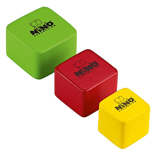 Nino Wood Shakers Square 3 Piece Set Multi Color