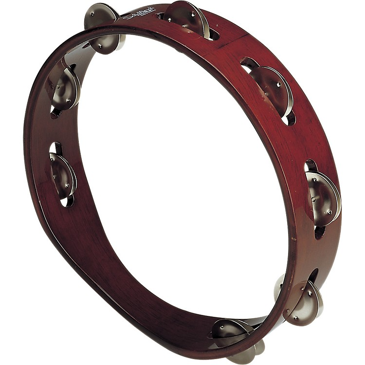Schalloch Wood Tambourine - Single Row Brown