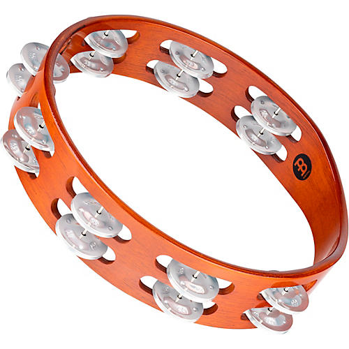 Meinl Wood Tambourine Two Rows Aluminum Jingles
