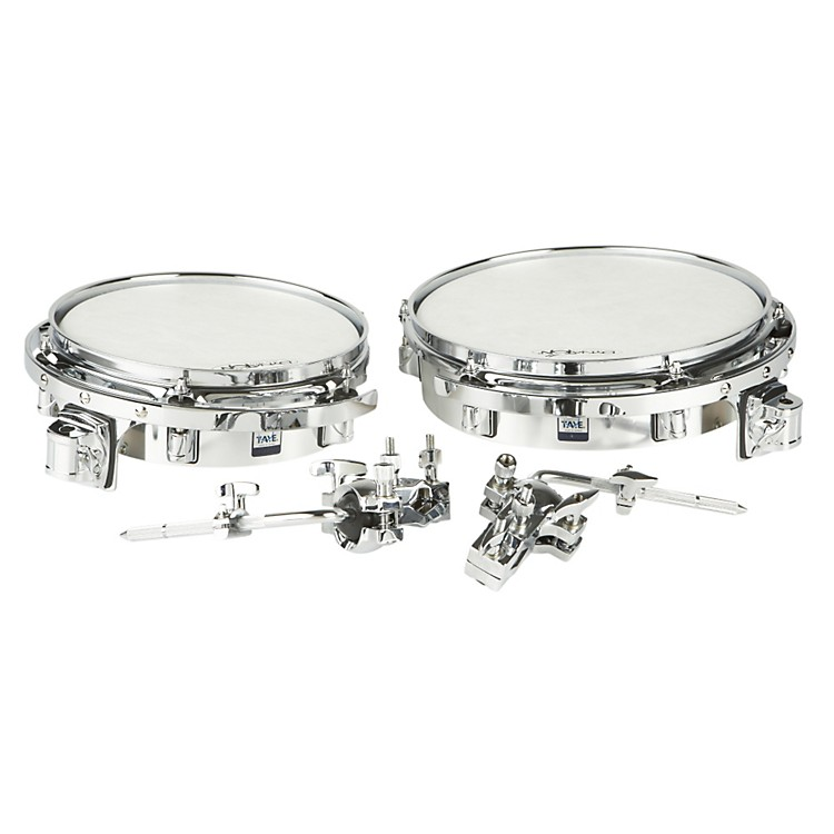 Taye Drums Wood Timbale Set with Mount Chrome Wrap 10x3 & 12x3