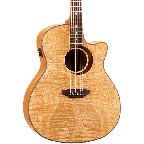 Luna Guitars Woodland Series Quilted Ash Acoustic-Electric Guitar