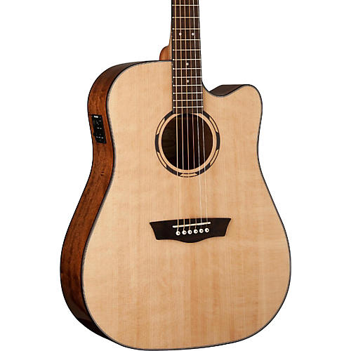 Washburn Woodline Series WLD10SCE Acoustic-Electric Cutaway Dreadnought Guitar-thumbnail