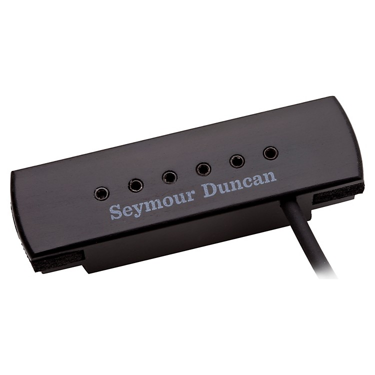 Seymour Duncan Woody XL Adjustable Pole Pieces Soundhole Pickup Black