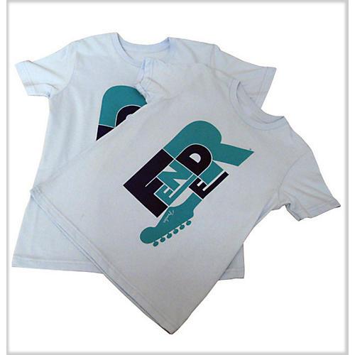 Fender Word Kids T-Shirt Teal XXS/8