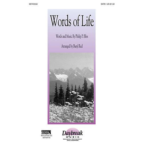 Hal Leonard Words of Life SATB arranged by Buryl Red