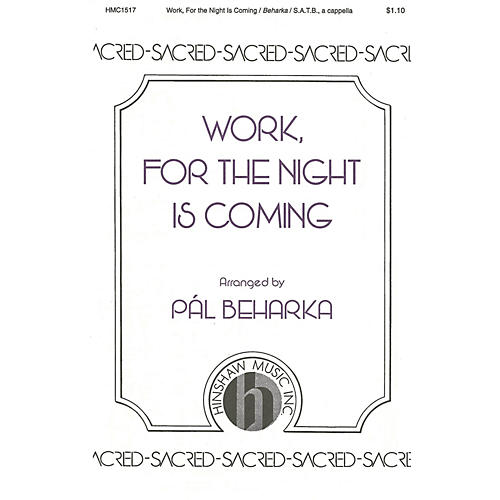 Hinshaw Music Work, For the Night Is Coming SATB composed by Lowell Mason-thumbnail