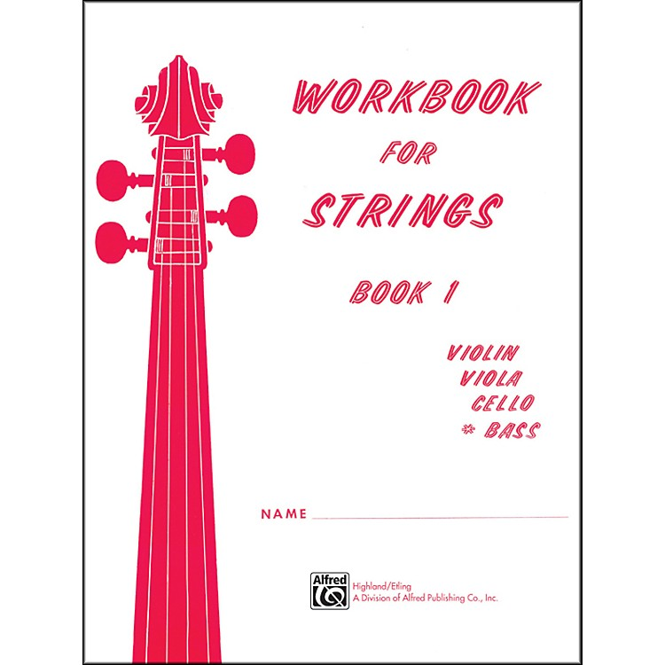 Alfred Workbook for Strings Book 1 Bass