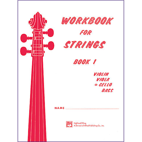 Alfred Workbook for Strings Book 1 Cello