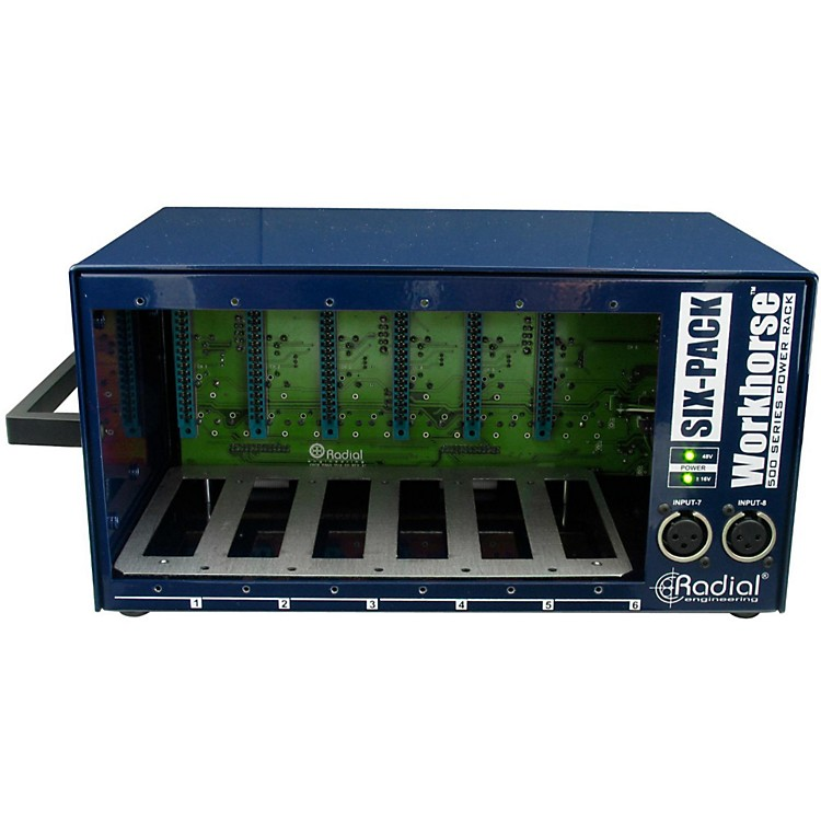 Radial Engineering Workhorse - SixPack 500 Series Desktop Rack