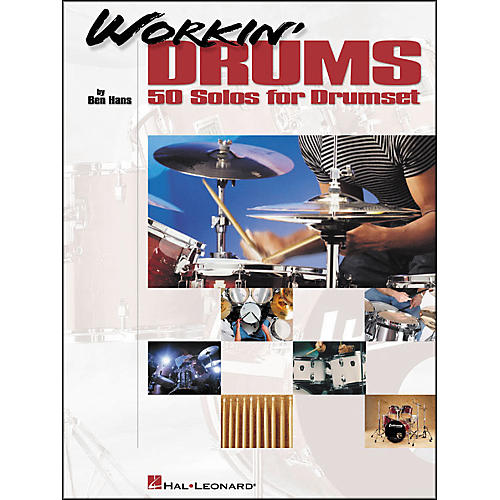 Hal Leonard Workin' Drums - 50 Solos for Drumset-thumbnail
