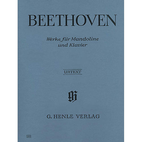G. Henle Verlag Works for Mandolin and Piano (Mandolin and Piano) Henle Music Folios Series Softcover