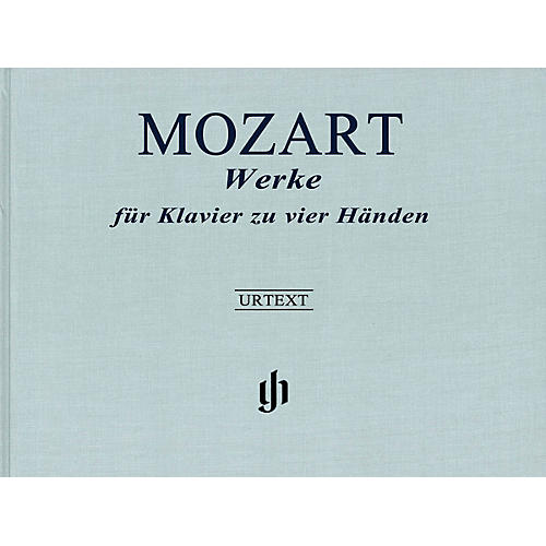G. Henle Verlag Works for Piano Four-Hands Henle Music Hardcover Composed by Wolfgang Amadeus Mozart Edited by Peter Jost