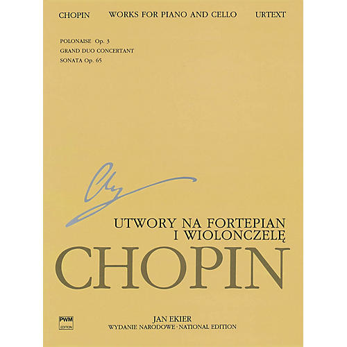 PWM Works for Piano and Cello (Chopin National Edition 23A, Vol. XVI) PWM Series Softcover-thumbnail