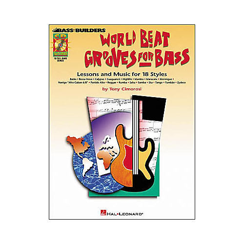 Hal Leonard World Beat Grooves for Bass (Book/CD)