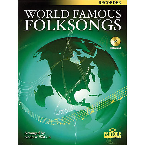 Fentone World Famous Folksongs (for Recorder) Fentone Instrumental Books Series-thumbnail