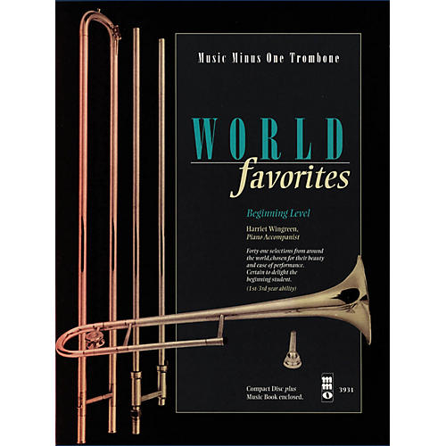 Music Minus One World Favorites - Beginning Level (Music Minus One Trombone) Music Minus One Series Softcover with CD-thumbnail