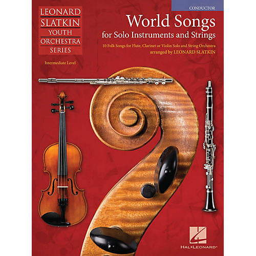 Hal Leonard World Songs for Solo Instruments and Strings Easy Music For Strings Series Softcover by Leonard Slatkin-thumbnail