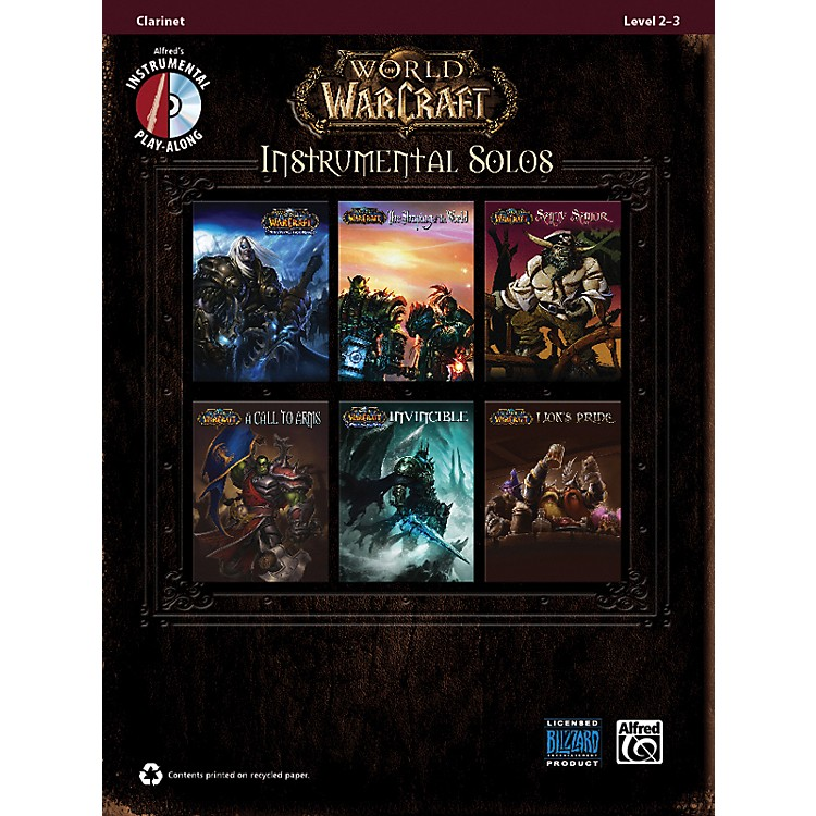 Alfred World of Warcraft Instrumental Solos Clarinet Book & CD