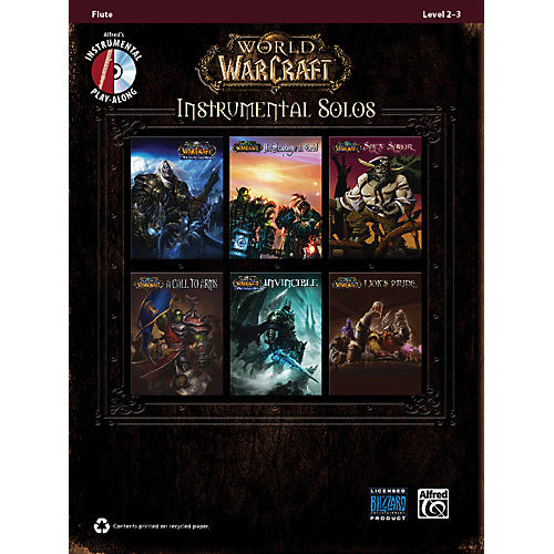 Alfred World of Warcraft Instrumental Solos Flute Book & CD