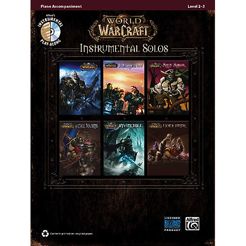Alfred World of Warcraft Instrumental Solos Piano Accom. Book & CD