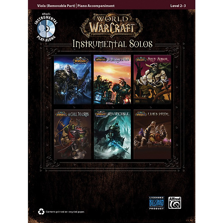 Alfred World of Warcraft Instrumental Solos for Strings Viola Book & CD