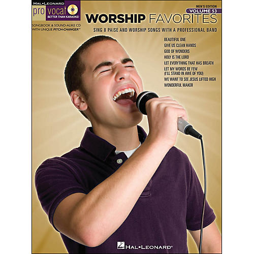 Hal Leonard Worship Favorites - Pro Vocal Songbook & CD for Male Singers Volume 53