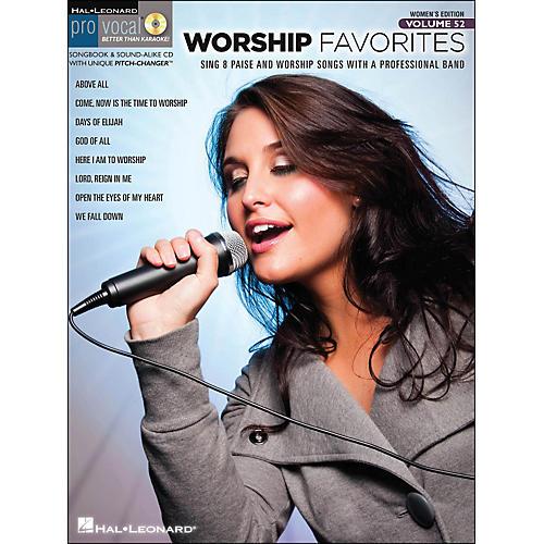 Hal Leonard Worship Favorites Pro Vocal Songbook & CD for Female Singers Volume 52-thumbnail