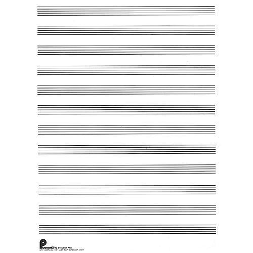 Music Sales Writing Pad No. 1: 12-stave (both sides) (Passantino Manuscript Paper) Music Sales America Series-thumbnail