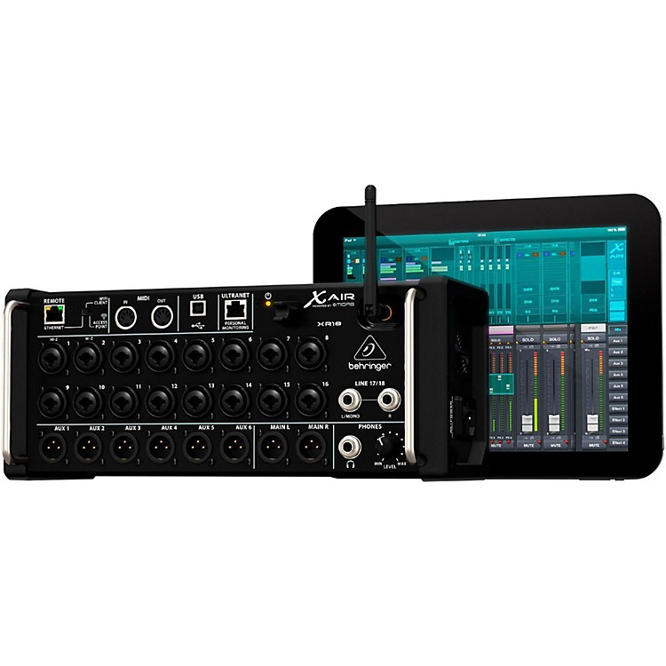 behringer x air xr18 digital rackmount mixer musician 39 s friend. Black Bedroom Furniture Sets. Home Design Ideas