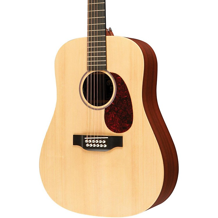 MartinX Series D12X1AE 12-String Dreadnought Acoustic-Electric GuitarNatural