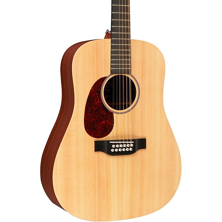 Martin X Series D12X1AE Left-Handed Acoustic-Electric Guitar Natural