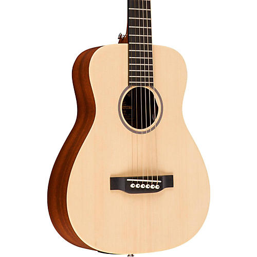 Martin X Series LX1E Little Martin Left-Handed Acoustic-Electric Guitar-thumbnail