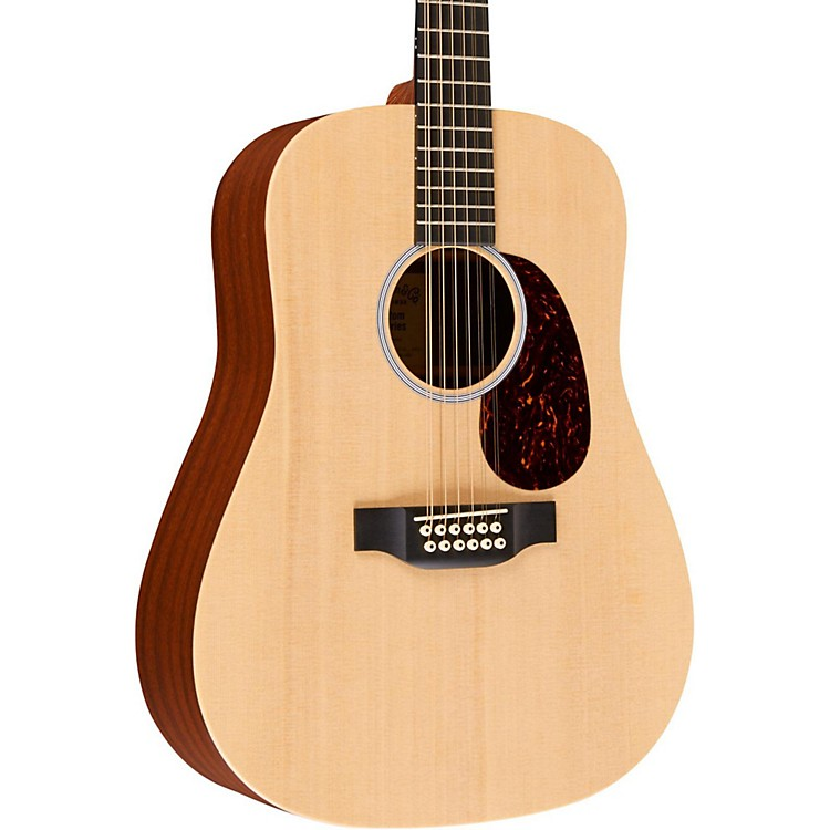 Martin X1-D12E Custom Dreadnought 12-String Acoustic-Electric Solid Spruce Top HPL Back & Sides Natural Solid Sitka Spruce Top