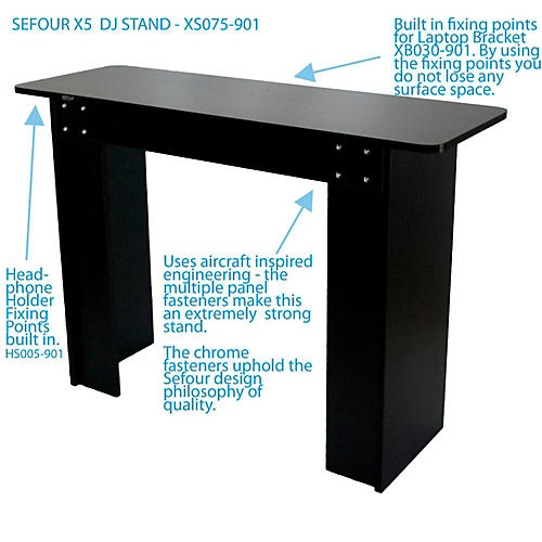 Sefour X5 DJ Stand Black