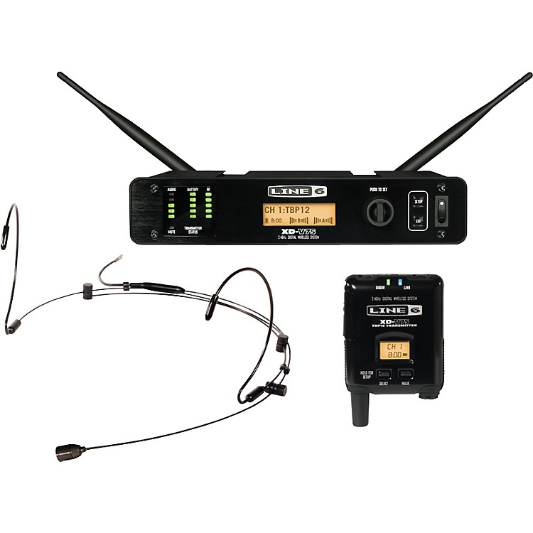Line 6XD-V75HS Professional Digital Wireless Headset SystemBlack