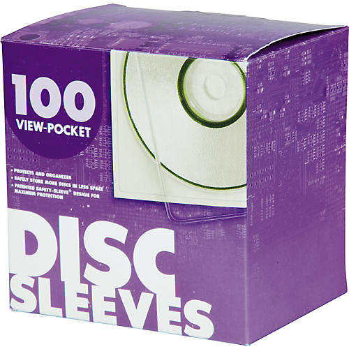 Univenture XG Safety Sleeve for CD / DVD - 100 pack