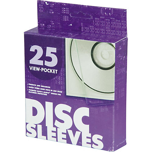 Univenture XG Safety Sleeves for CD/DVD - 25-Pack-thumbnail