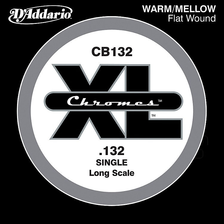 D'Addario XL Chromes CB132 Single Flat Wound .132